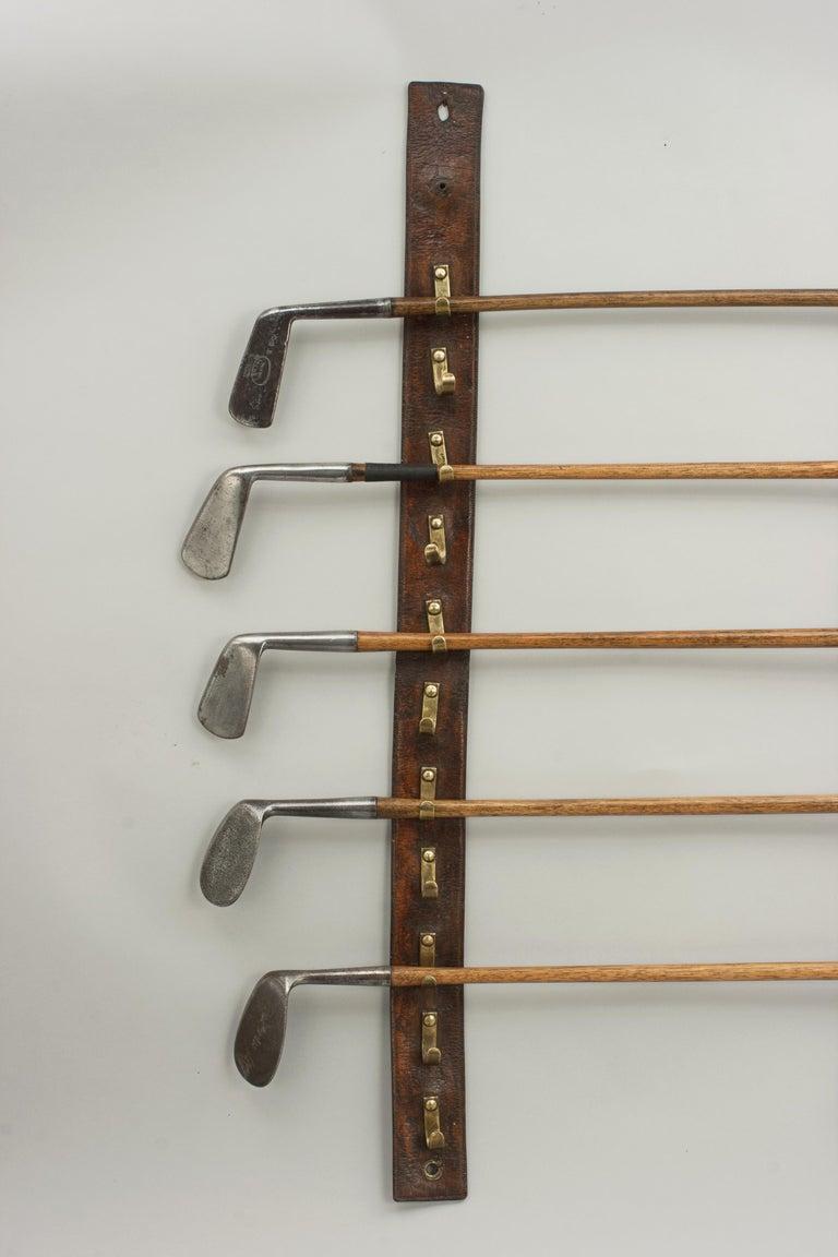 Vintage Leather Strap Whip Rack Walking Stick Or Golf
