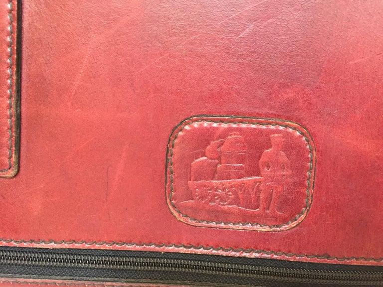 Mid-Century Modern Vintage Leather Suitcase