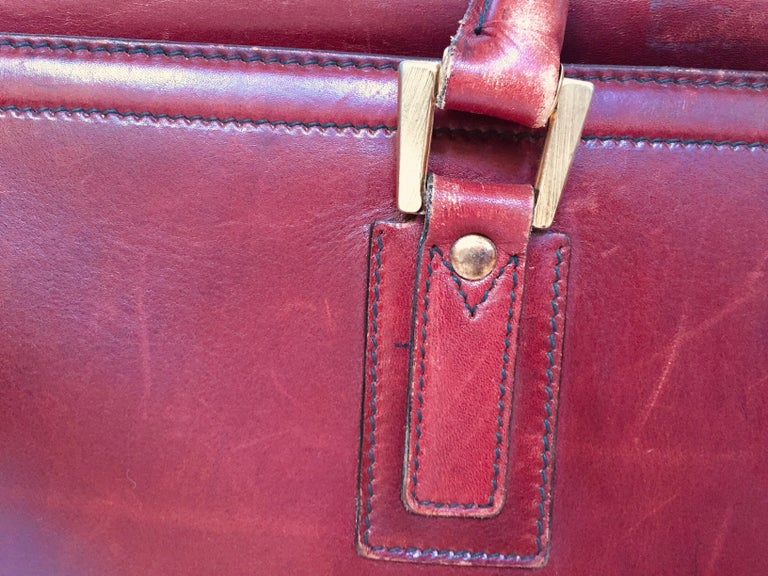 French Vintage Leather Suitcase