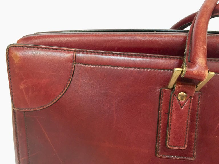 Hand-Crafted Vintage Leather Suitcase