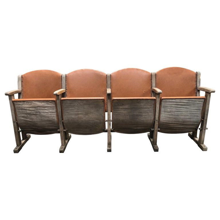 Vintage Leather Theater Seats