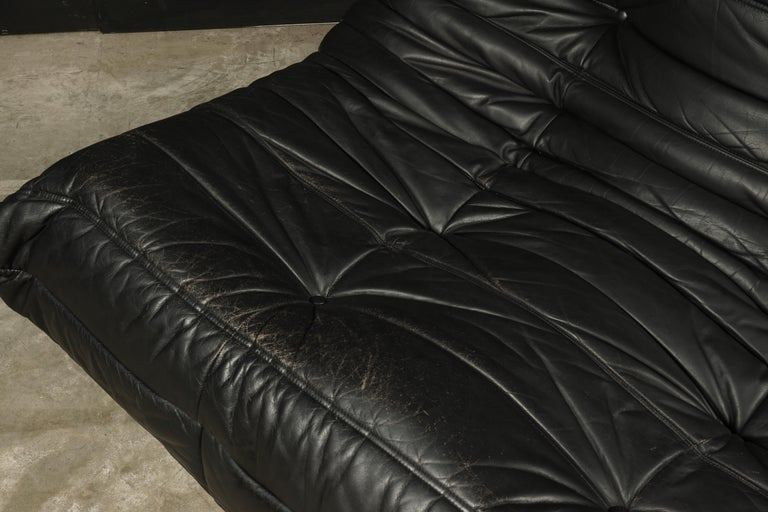 Vintage Leather Two-Seat Sofa, Model