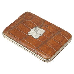 Vintage Leather Wallet with Soft Interior Calf Skin with Silver Mounts