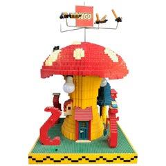 Vintage Lego Advertising Store Display Mushroom Lamp, circa 1970