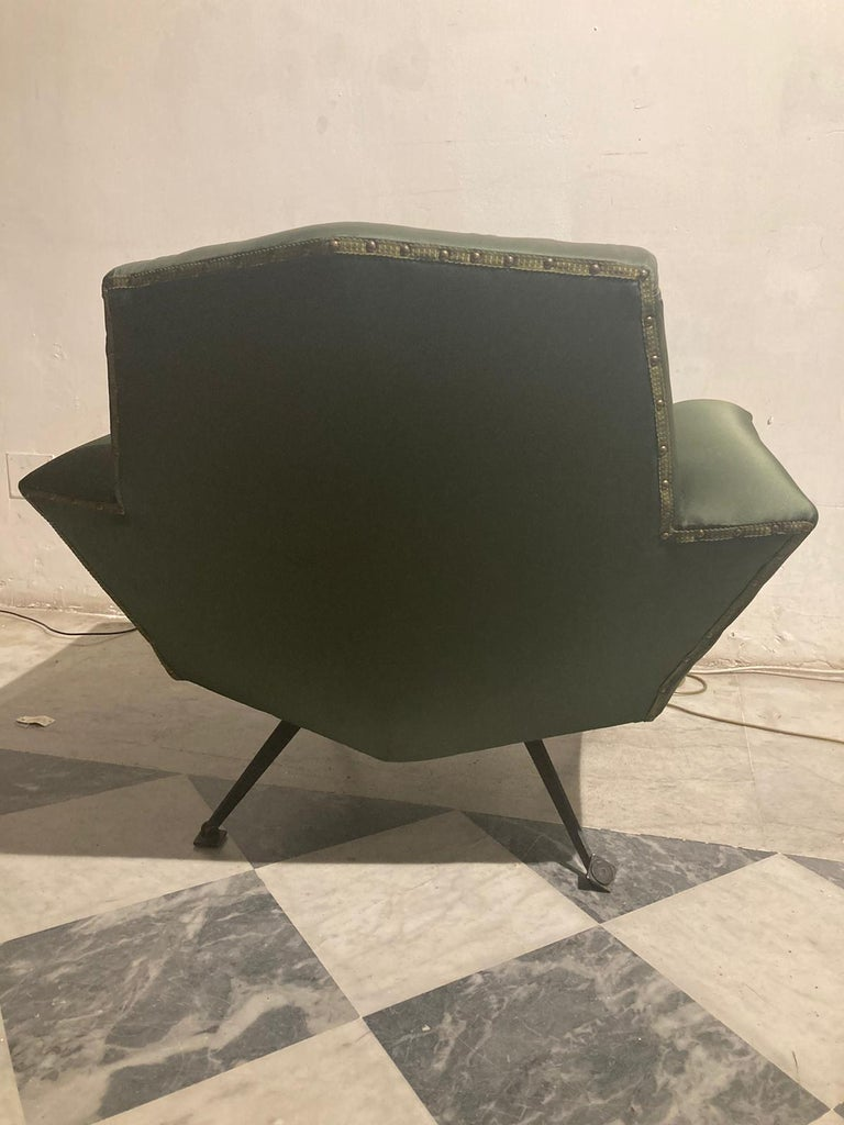 Vintage Lenci Armchair by Fabio Lenci, 1950s In Good Condition For Sale In Roma, IT