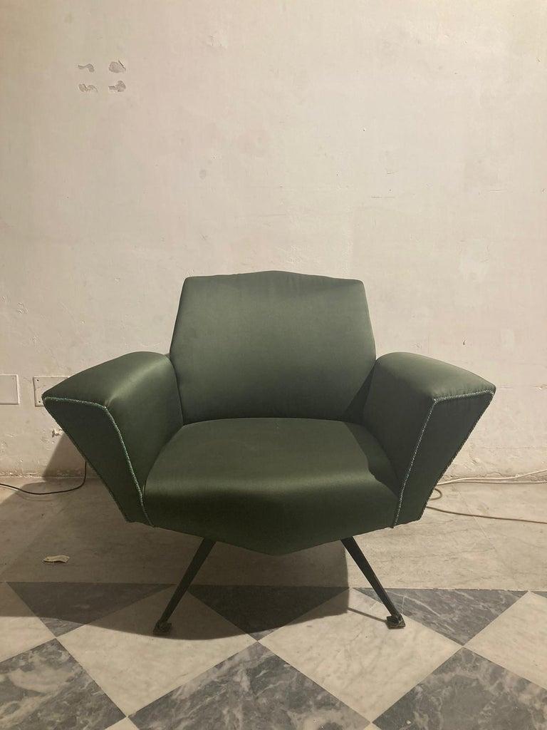Late 20th Century Vintage Lenci Armchair by Fabio Lenci, 1950s For Sale