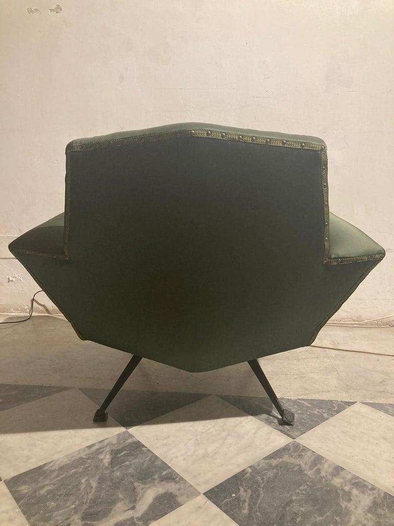 Metal Vintage Lenci Armchair by Fabio Lenci, 1950s For Sale