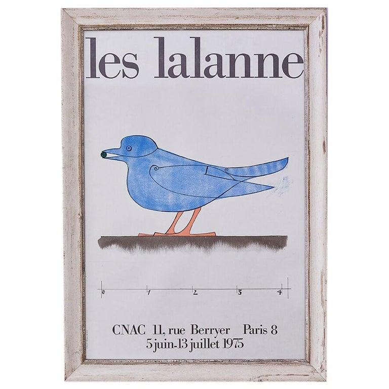 Vintage Les Lalanne Exhibition Poster in Antique Frame, France, 1975