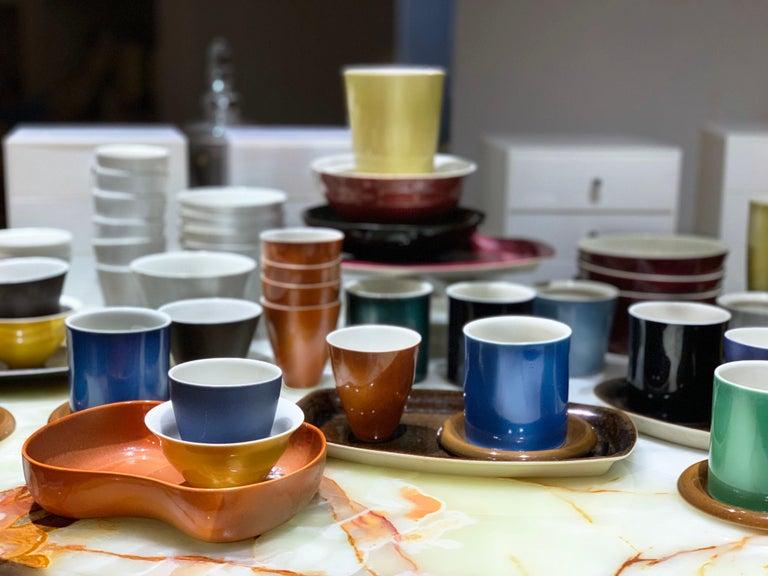 Lietzke Studio Porcelain Tableware Set, Midcentury Modern Art Pottery Ceramics.   Largest collection of Lietzke
