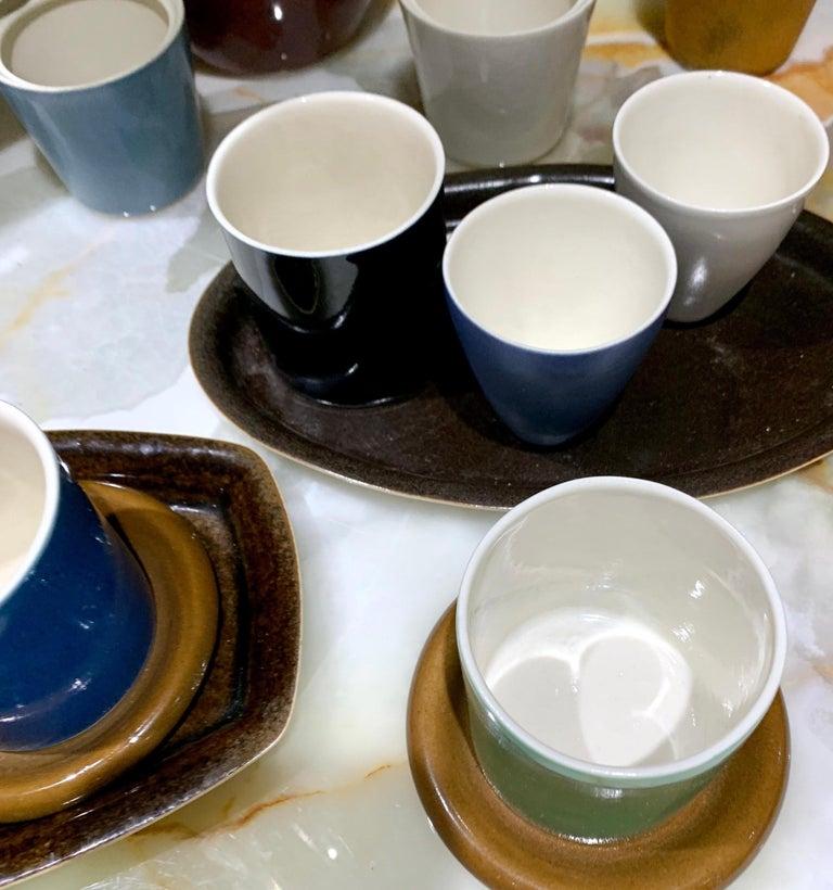American Lietzke Studio Porcelain Tableware Set, Midcentury Modern Art Pottery Ceramics For Sale