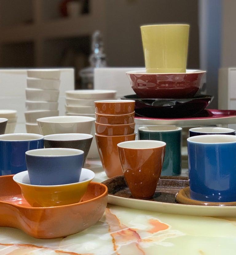 20th Century Lietzke Studio Porcelain Tableware Set, Midcentury Modern Art Pottery Ceramics For Sale