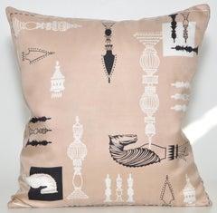 Vintage Liberty of London Silk Scarf and Irish Linen Cushion Pillow
