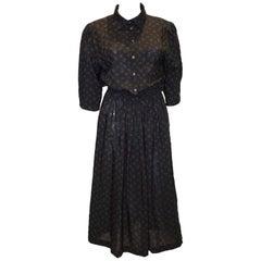Vintage Liberty Print Wool Dress