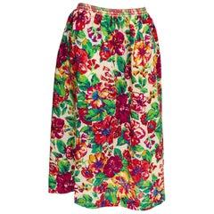 Vintage Liberty Print Wool Skirt