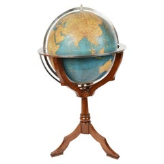 Vintage Library Terrestrial Globe Designed by Vallardi Milan, Early 1950s