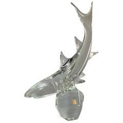 Vintage Licio Zanetti Midcentury Murano Glass Shark Sculpture