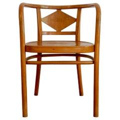 Vintage Light Brown Armchair from Gebrüder Thonet Vienna GmbH