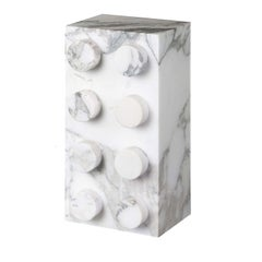 Table lamp in Arabescato Marble