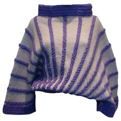Vintage Lilac and Grey Jumper
