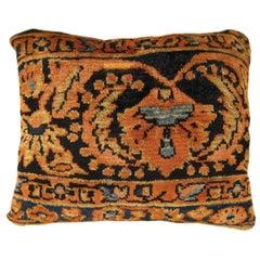 Vintage Persian Lilihan Decorative Oriental Rug Pillow