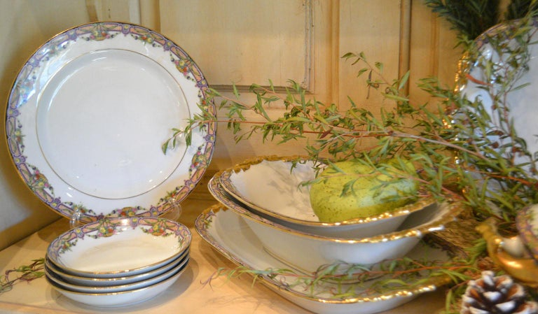 Vintage Limoges Dinnerware 73 Pieces For Sale 4
