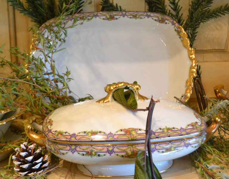 Vintage Limoges Dinnerware 73 Pieces For Sale 2