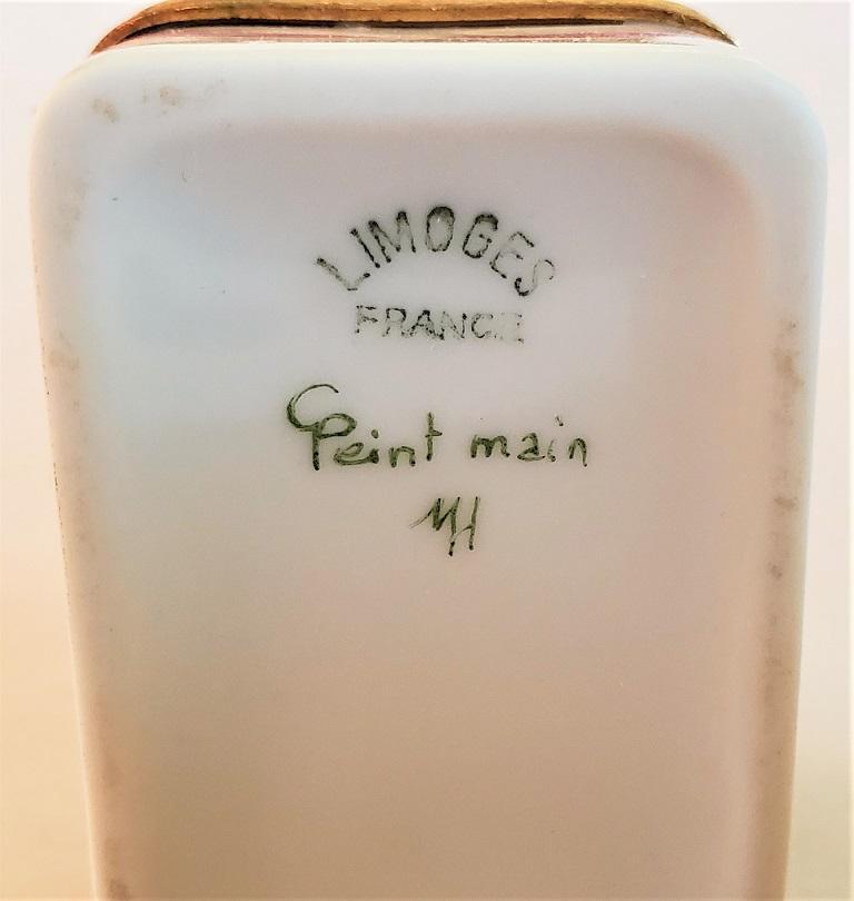 Vintage Limoges Domed Casket Ring Box For Sale 2