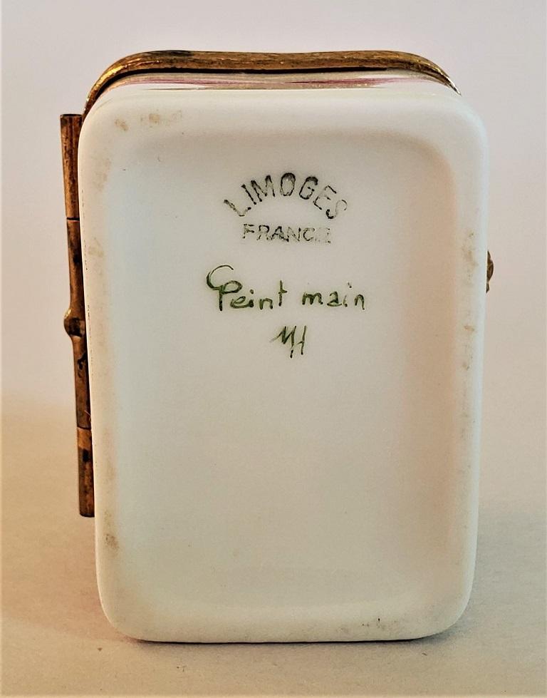 Vintage Limoges Domed Casket Ring Box For Sale 1