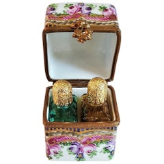 Vintage Limoges Double Bottle Perfume Box