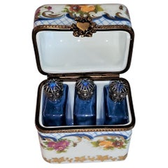 Vintage Limoges Perfume Box with Bottles