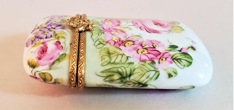 Hand-Crafted Vintage Limoges Purse Shaped Box For Sale