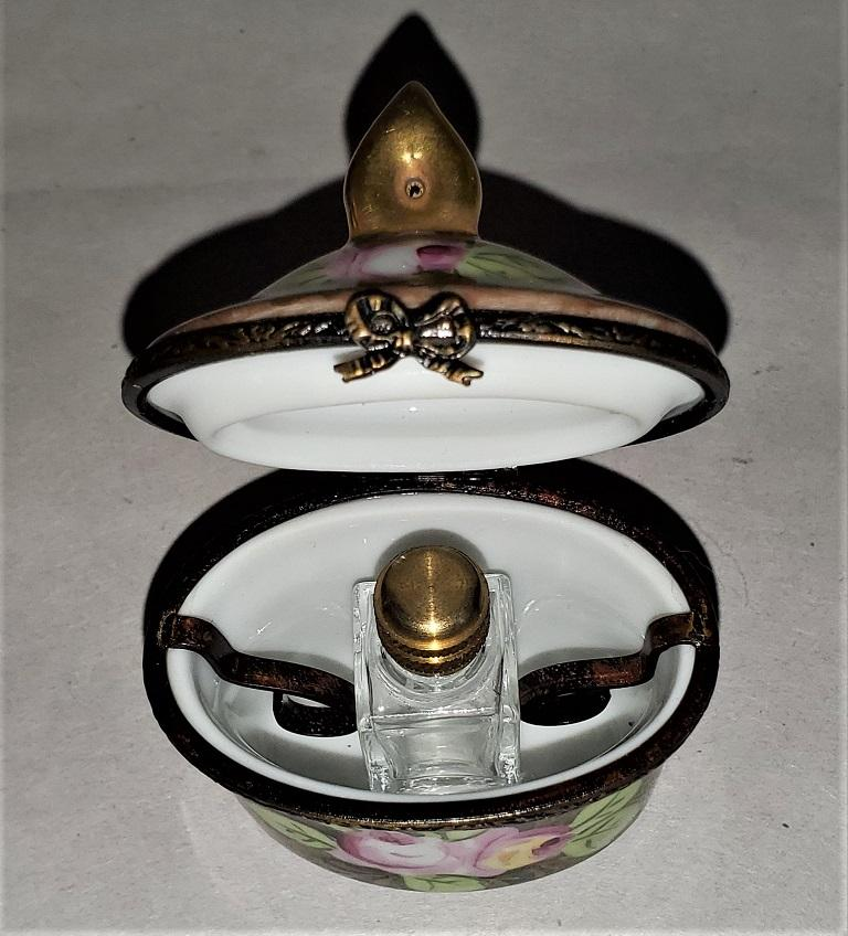 Vintage Limoges Single Perfume Bottle Box For Sale 2