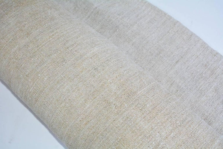 Vintage Linen Grain Sack Fabric In Good Condition For Sale In Great Barrington, MA