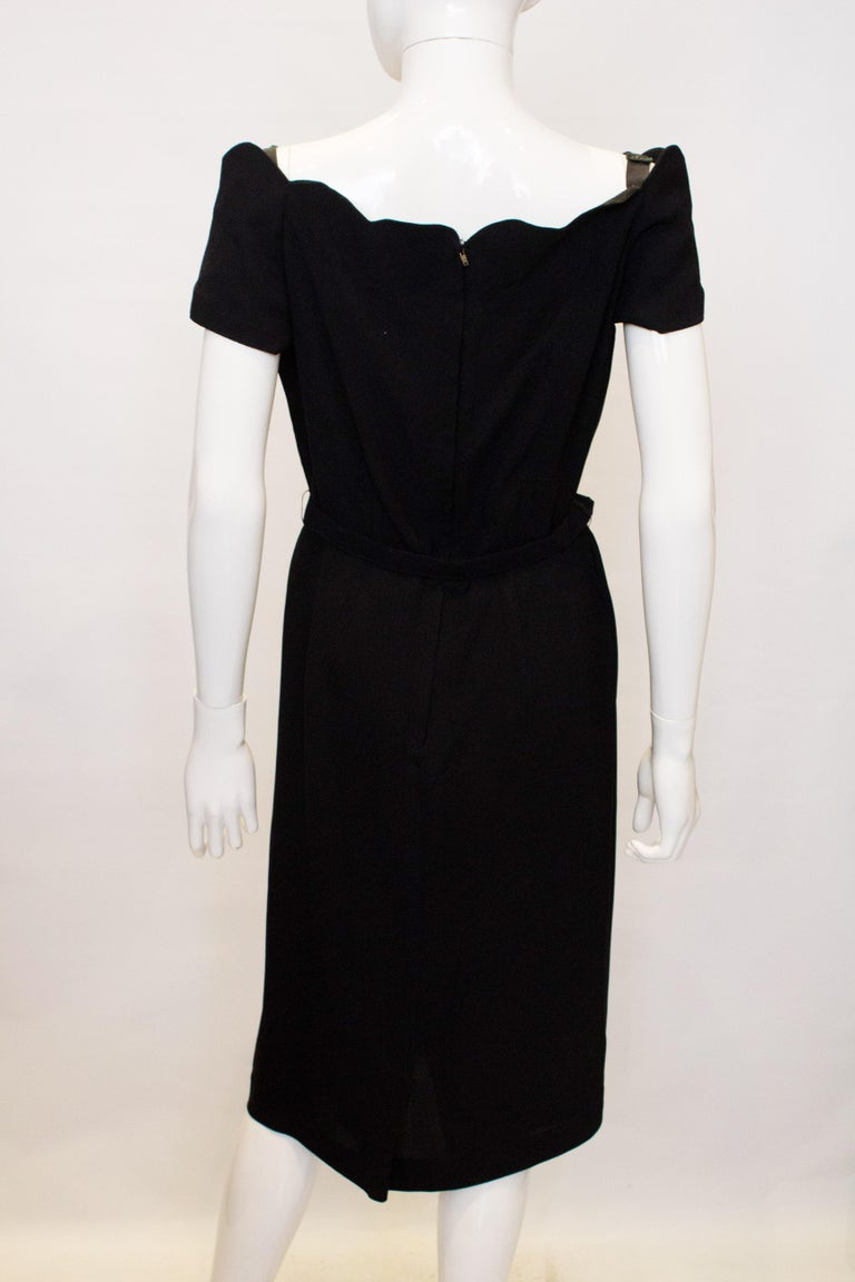 Vintage Linz Line Black Cocktail /Dinner Dress In Good Condition For Sale In London, GB