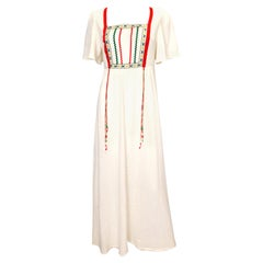 Vintage Linzi Boho Cheesecloth Dress