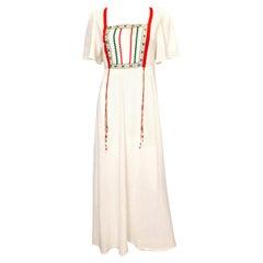 Vintage Linzi Boho Cheesecloth Dress
