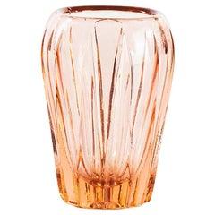 Vintage Little Pink Glass Vase, 1970s