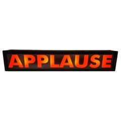 Vintage Live Studio Audience APPLAUSE Light Up Sign