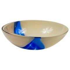 Vintage Livio Seguso Sculptural Glass Bowl, Murano, Italy, circa 1970