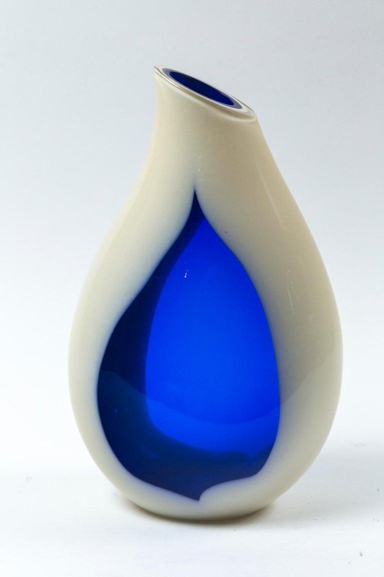 Blown Glass Vintage Livio Seguso Sculptural Vase, Murano, Italy, circa 1970