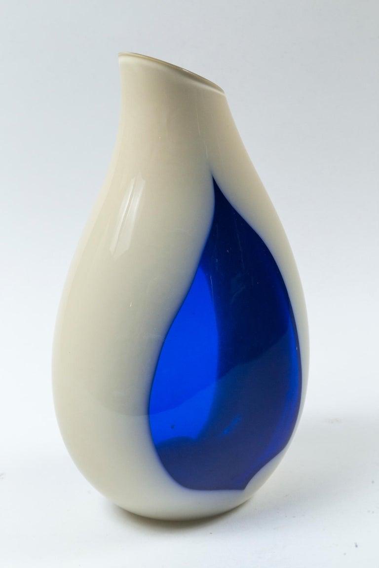 Vintage Livio Seguso Sculptural Vase, Murano, Italy, circa 1970 1