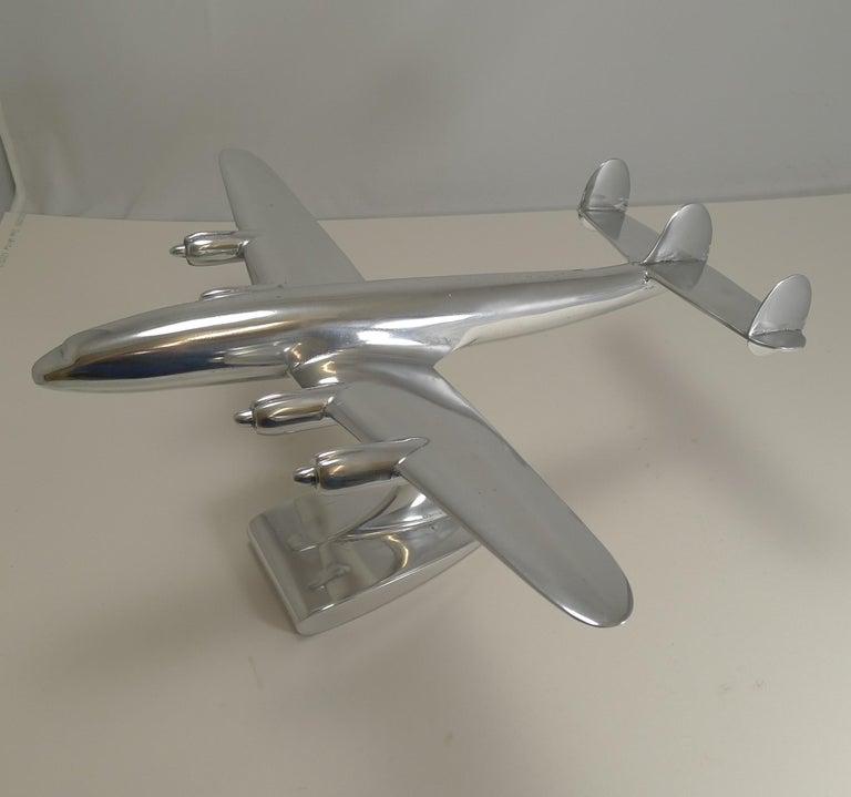 Mid-Century Modern Vintage Lockheed Constellation Plane Model, circa 1950 For Sale