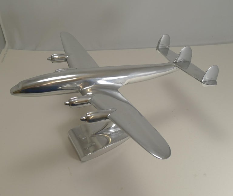 Vintage Lockheed Constellation Plane Model, circa 1950 In Good Condition For Sale In London, GB