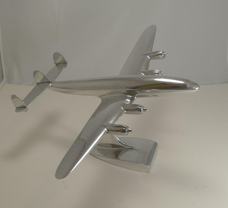 Mid-20th Century Vintage Lockheed Constellation Plane Model, circa 1950 For Sale