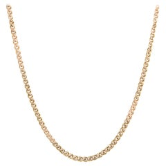Vintage Long Chain 10 Karat Yellow Gold Necklace Double Link Estate Jewelry