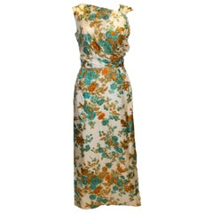 Vintage Long Floral Evening Gown