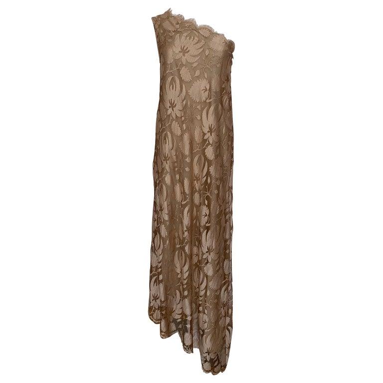Vintage Long Lace Dress For Sale