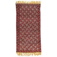 Vintage Long Moroccan Berbere Rug