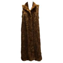 Vintage Long Sheared Mink Gilet