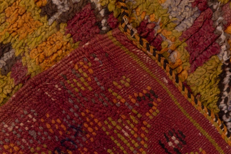 Vintage Long Tribal Moroccan Runner In Good Condition For Sale In New York, NY